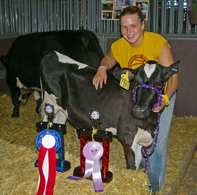 danni pickert and heifer Larimer County Fair Photos Review