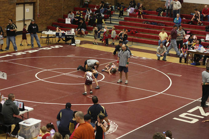 The Berthoud High School Gym was a busy place.