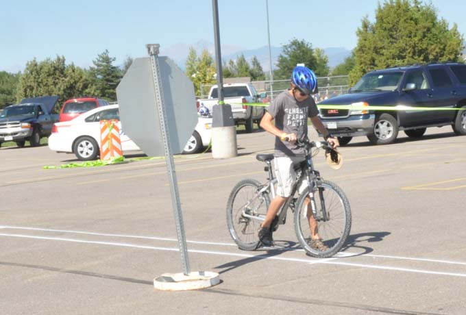 7243 jackson hindman at stop Bike safety is fun