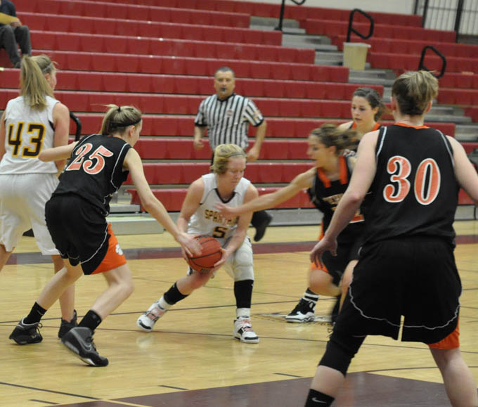 3664 q4 Lady Spartans eke out win over Sterling Tigers
