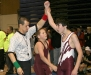 thumbs brendan stanley winning his match Berthoud Wrestling Club brings home 10 trophies