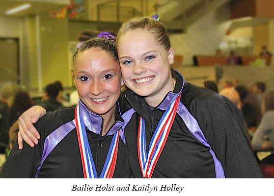 2013 l10 state bailie and kaitlyn Premier Gymnastics results for Colorado Championship