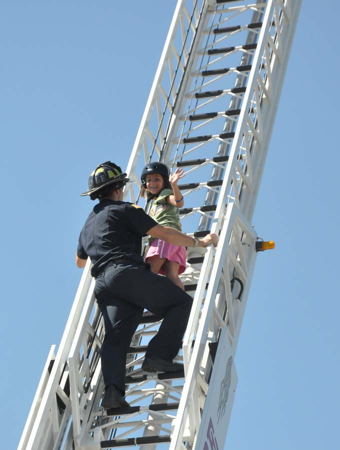 7263 ladder maggie langer Bike safety is fun