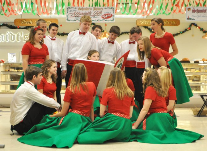 Bridge Between at Schmidts Bakery 670x4891 Bridge Between Show Choir presents Christmas Program