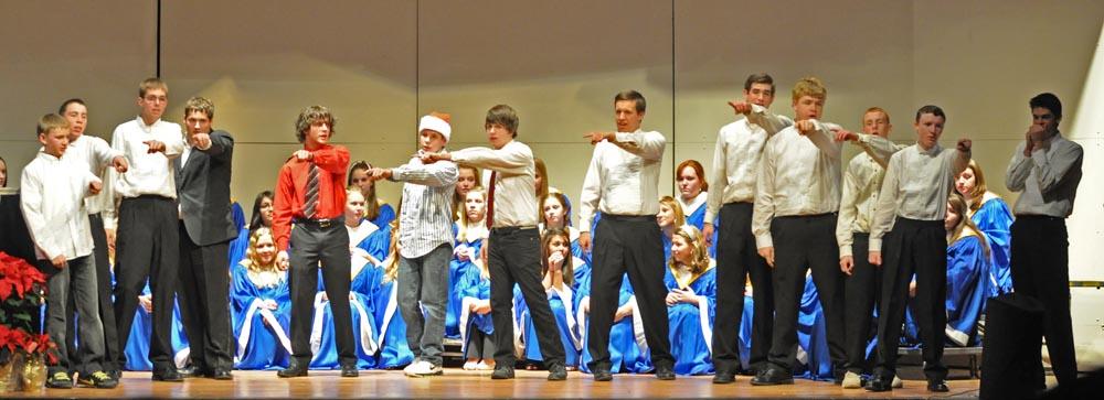 "The Typecast Men's Choir sings 'Little Saint Nick."""