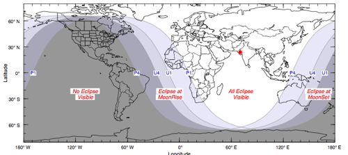 Path of Lunar Eclipse on Dec. 31, 2009
