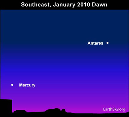 10jan26 430 Earthsky Tonight   January 26, 2010 Mercurys greatest morning elongation tomorrow