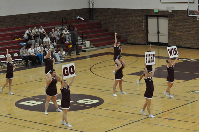 1548 Berthoud High School Cheer Leaders