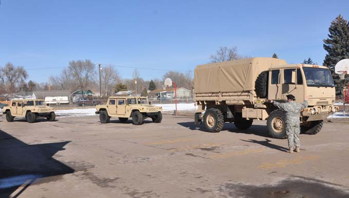 2498 Army reservist Marissa Herbert parking vehicles1 The US Army Reserve comes to Thompson School District