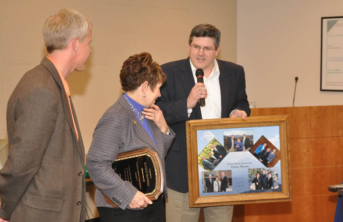 Donnelly presents photo1 Reception honoring Kathay Rennels