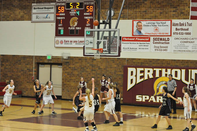 Girls BB Amy Eckart 3ptr1 Lady Spartans win in closing seconds