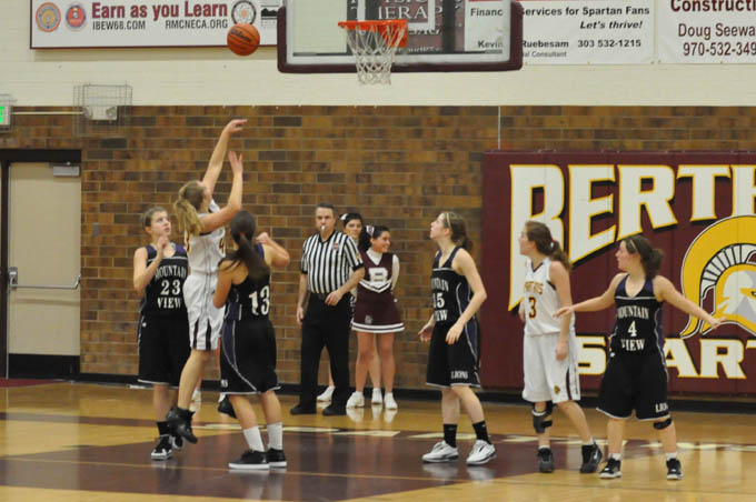 Girls BB Sarah Loberg makes it 30 25 in the third quarter Lady Spartans win in closing seconds