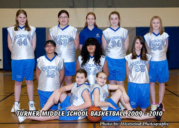 Turner 7th JV1 Turner Middle School Girls Basketball Season underway