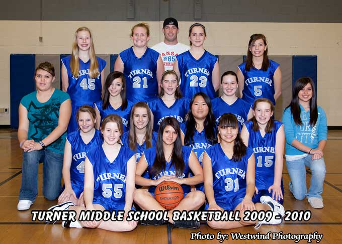 Turner Middle School 8th Grade JV Girls Basketball team