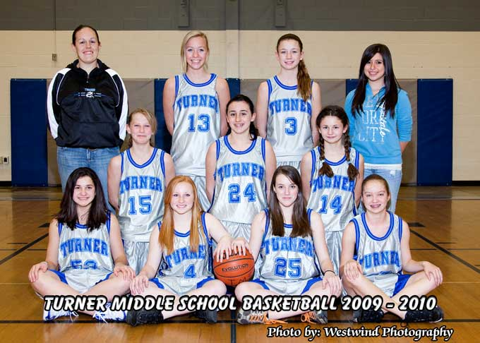 Turner Middle School 8th Grade Varsity Girls Basketball team