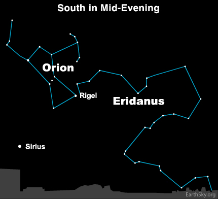 10feb10 430 Earthsky Tonight, February 10, 2010: You need a dark sky to see Eridanus