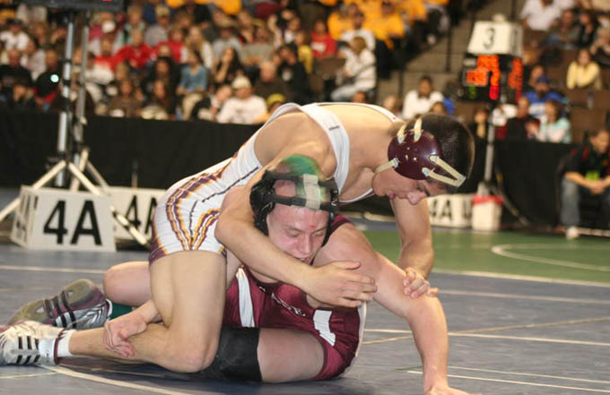 Marcus Lucero vs Terry Williams Day 1 3 All five Berthoud Spartan wrestlers advance on Day 1