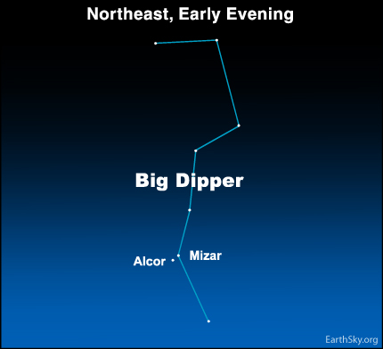 10mar09 430 Earthsky Tonight—March 9: Ancient eye test relied on two stars in Big Dipper