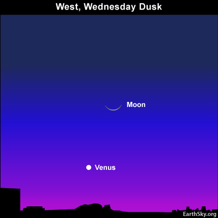 10mar17 4301 Earthsky Tonight — Young crescent moon above Venus