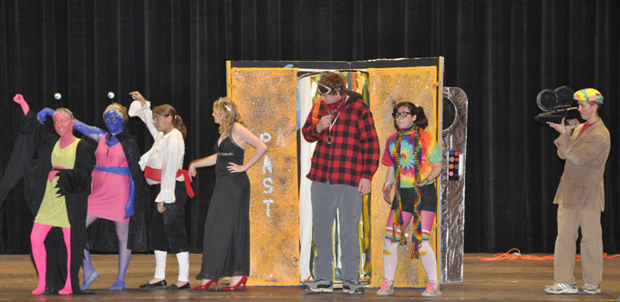 Cast of Treasure Berthoud Division III Odyssey of the Mind teams place first.  