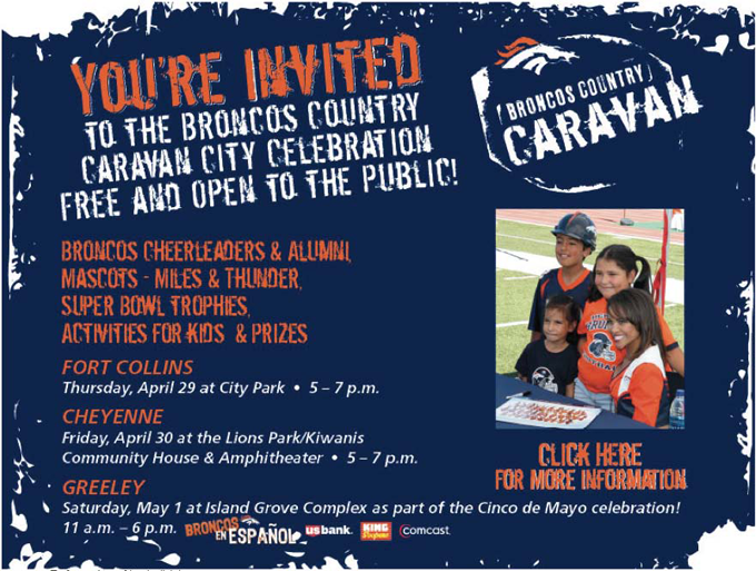 Broncos flyer Broncos Country Caravan