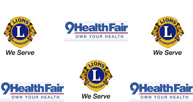 Lions 9Health Fair 9Health Fair this Saturday, April 10
