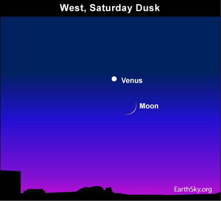 10may15 430 Earthsky Tonight—May 15, Crescent moon near Venus after sunset
