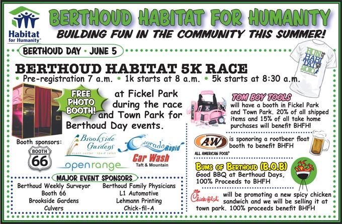 Berthoud Habitat ad 6 10 Berthoud Habitat 5K and more on Berthoud Day