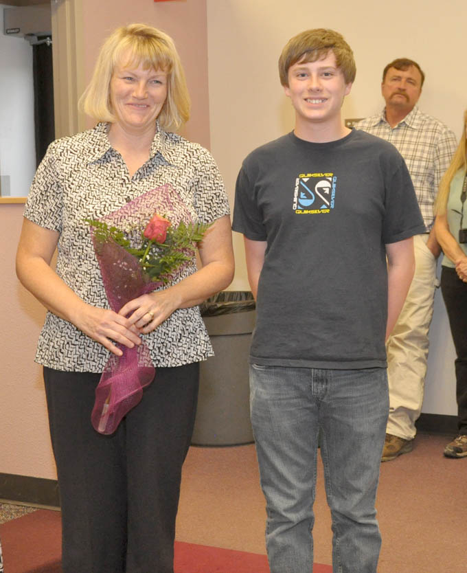 Janet Fuernss and Tyler Students appreciate teachers too