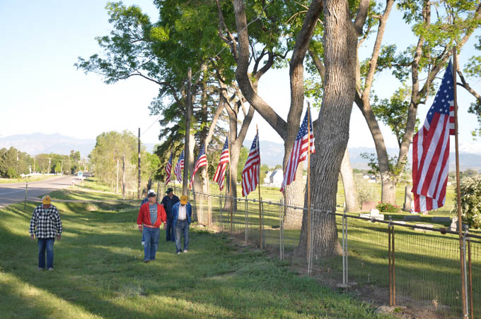 Lions flags Flags and Flowers commemorate Memorial Day at Greenlawn