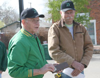 Ray and John sm Arbor Day Tree Planting in Berthoud—May 1, 2010