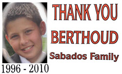 Sabados Thank you 250 Thank you note from the Sabados Family
