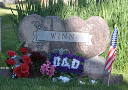 winn grave Flags and Flowers commemorate Memorial Day at Greenlawn