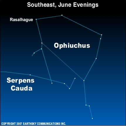 09jun11 4301 Earthsky Tonight—June 9: Ophiuchus and the Serpent