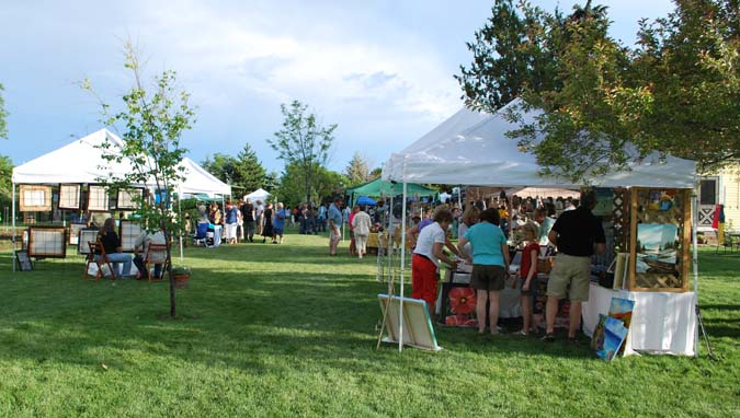 After the rain Berthoud Art in the Garden a smashing success