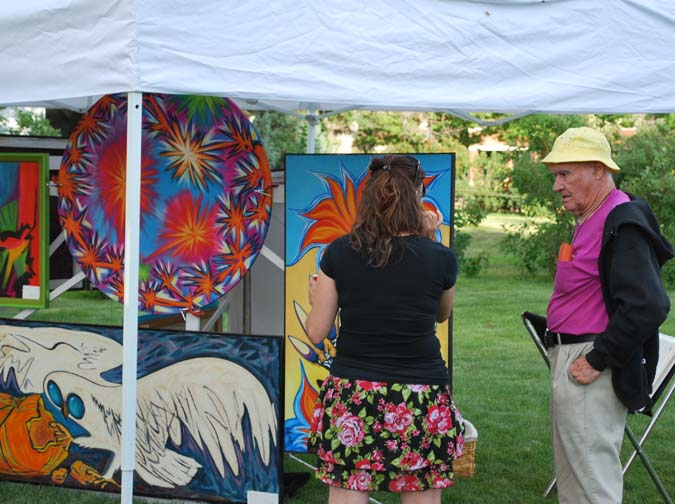 Don Lehns art Berthoud Art in the Garden a smashing success