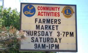 Farmers Market lions sign 300x179 Farmers Market lions sign