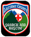 LARIMER COUNTY SEARCH AND Rescue logo County Search and Rescue open house. 