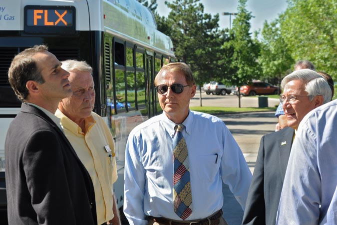 Mayor Patterson Berthoud Mayor welcomes FLEX bus
