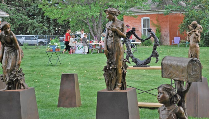 Sculpture Berthoud Art in the Garden a smashing success