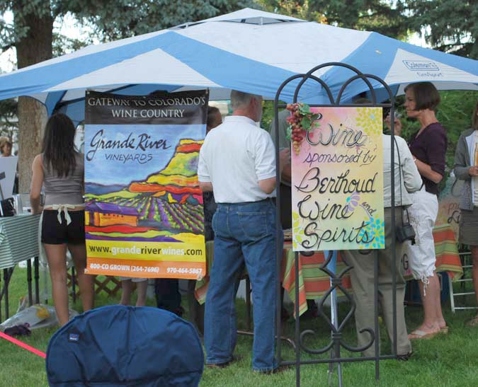 Wind tasting Berthoud Art in the Garden a smashing success