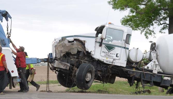 concrete truck Fatal accident east of Berthoud