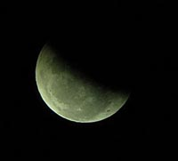 moon waning eclipse 200 square EarthSky Tonight June 25: Partial eclipse of moon before dawn June 26 for Americas