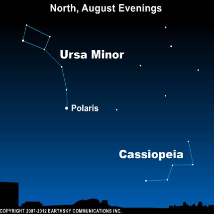 10aug04 430 Earthsky Tonight—August 4, Cassiopeia the Queen on summer evenings