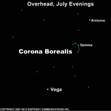 10jul08 430 July 8: 2010: Corona Borealis is also called the Northern Crown