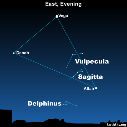 10jul29 430 Earthsky Tonight—July 29, Summer Triangle and the smallest constellations