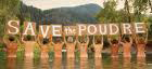 Save the Poudre2 NCWCD Prints Mocking Save The Poudre Bumper Sticker