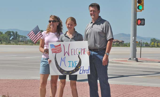 Welcome sign Project America Run comes to Berthoud