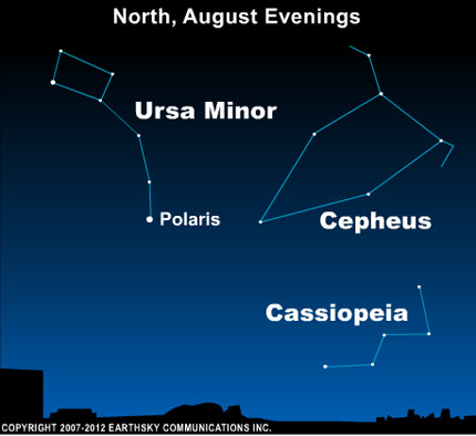 10aug05 430 Earthsky TonightAugust 5, Constellation Cepheus looks like a house