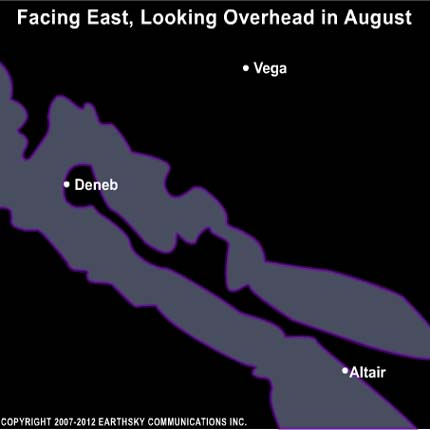10aug08 430 Earthsky Tonight—August 8, Look overhead to see the summer Milky Way